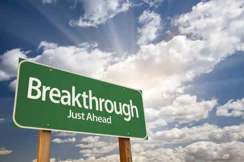Breakthrough Green Road Sign