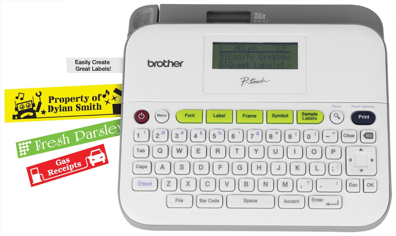 The #1 organizing tool - a label maker that prints up to 3/4