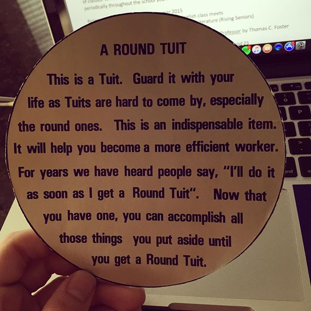 It's just a picture of Dashing A Round Tuit Printable
