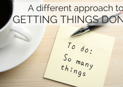 A Different Approach to Getting Things Done